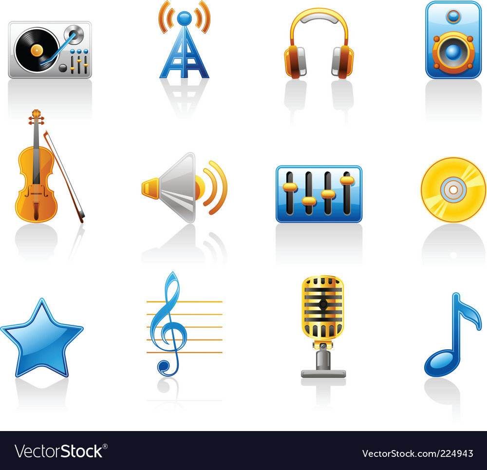 Music icon vector | Price: 3 Credit (USD $3)
