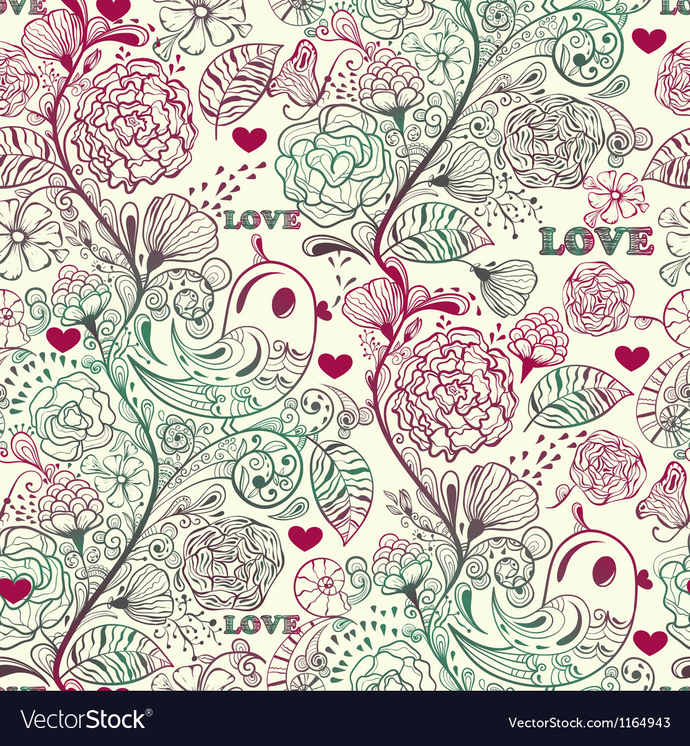 Seamless spring pattern vector | Price: 1 Credit (USD $1)