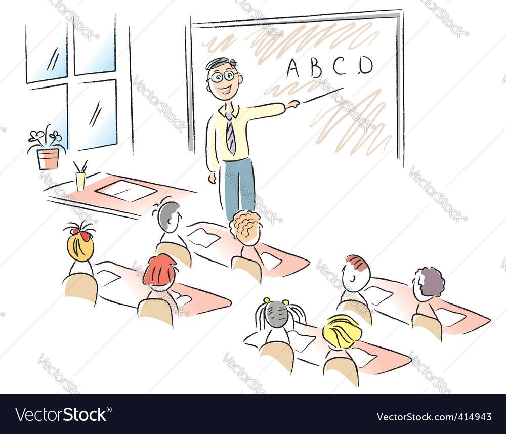 Teacher in school vector | Price: 1 Credit (USD $1)
