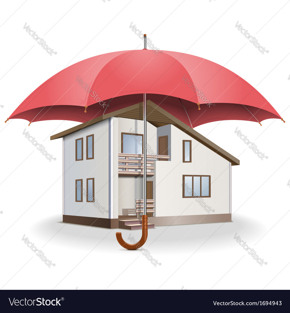 Umbrella and house vector | Price: 1 Credit (USD $1)