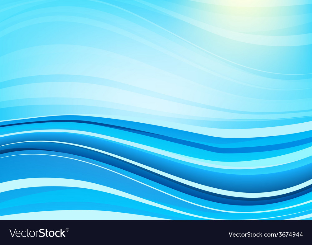 Blue and white waves background vector | Price: 1 Credit (USD $1)