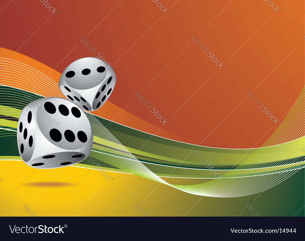 Casino illustration with two dice vector | Price: 1 Credit (USD $1)