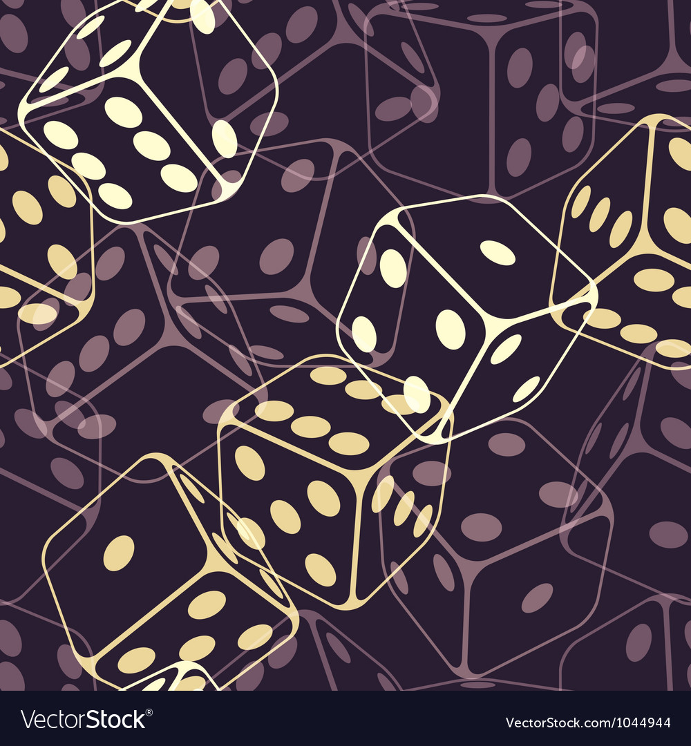 Dice seamless background pattern vector | Price: 1 Credit (USD $1)
