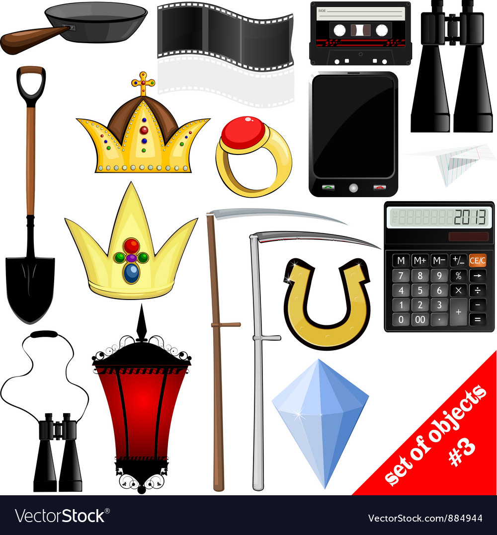 Drawing of a set of objects eps10 vector | Price: 1 Credit (USD $1)