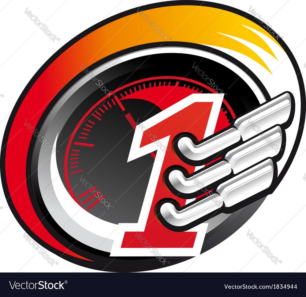 Formula one racing icon vector | Price: 1 Credit (USD $1)