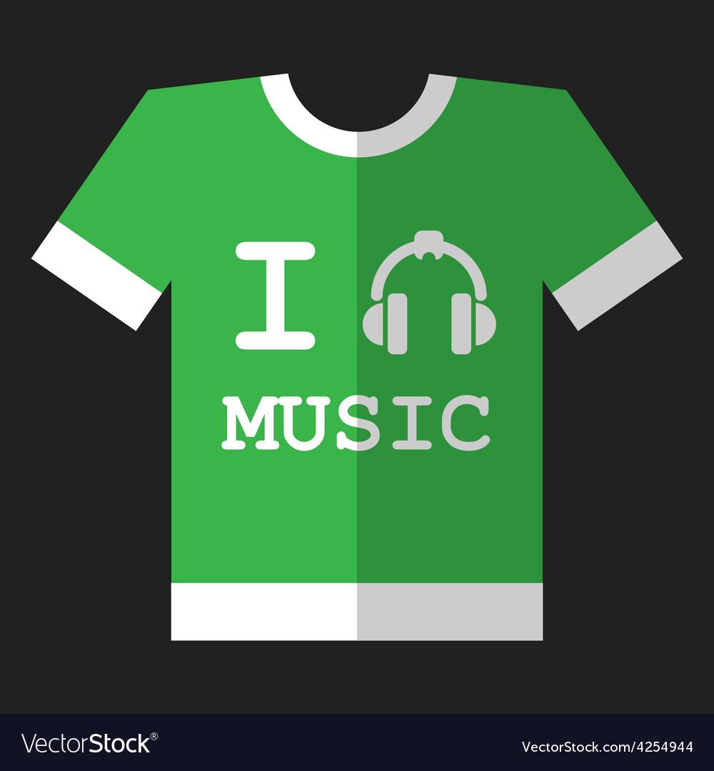 I love music icon vector | Price: 1 Credit (USD $1)