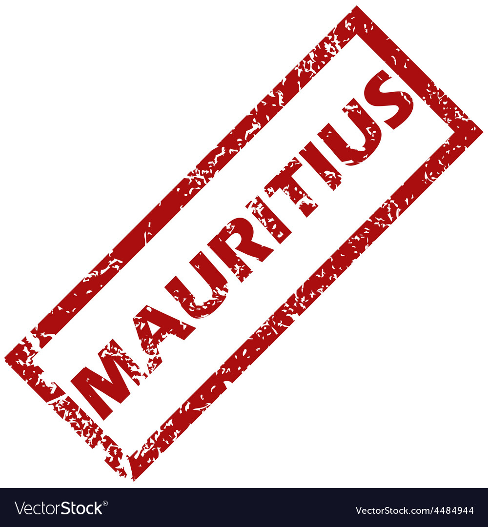 New mauritius rubber stamp vector   Price: 1 Credit (USD $1)