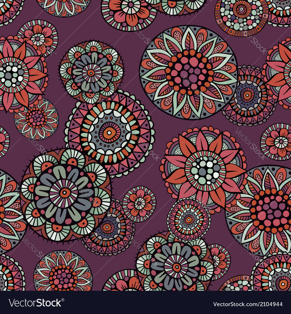 Ornamental vintage fantasy floral seamless pattern vector | Price: 1 Credit (USD $1)