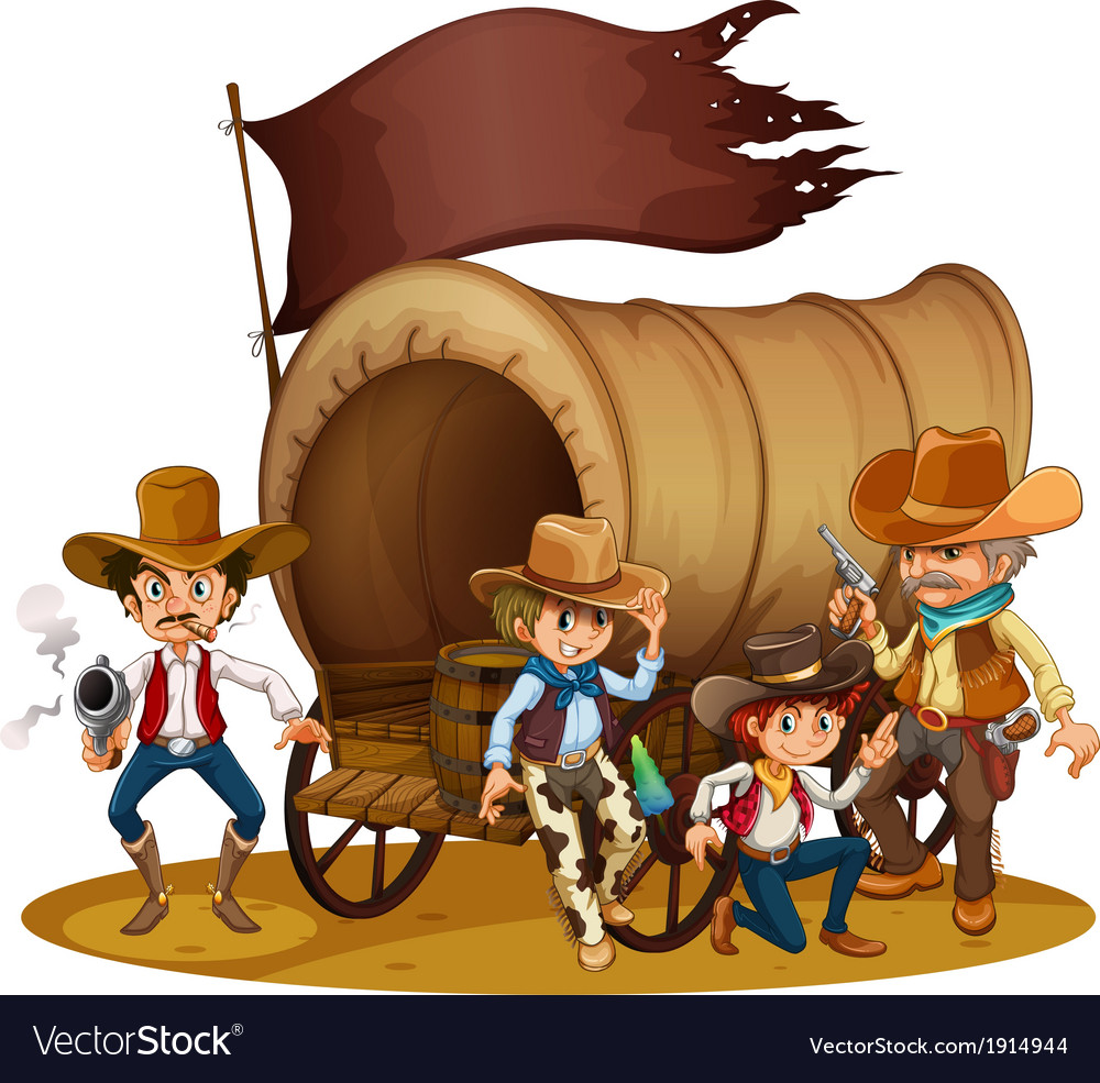 People from the wild west vector | Price: 3 Credit (USD $3)