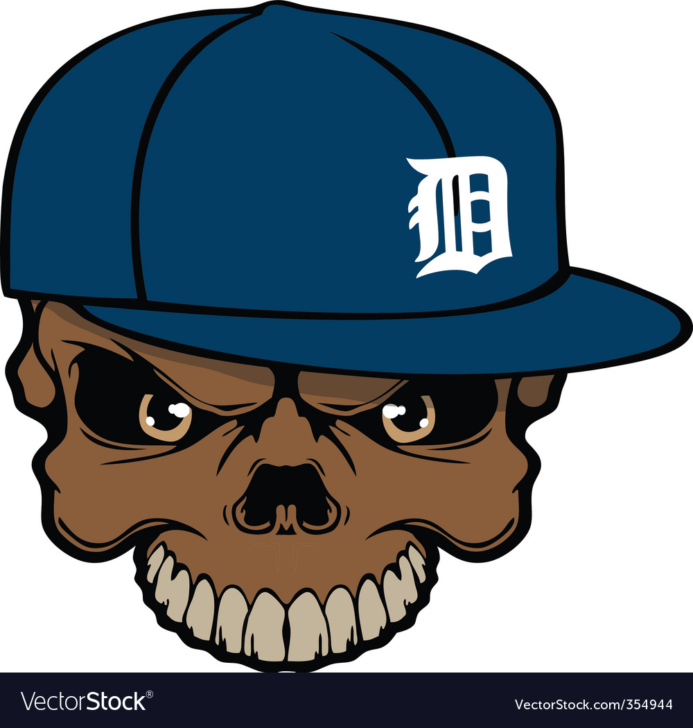 Tigers skull vector | Price: 1 Credit (USD $1)