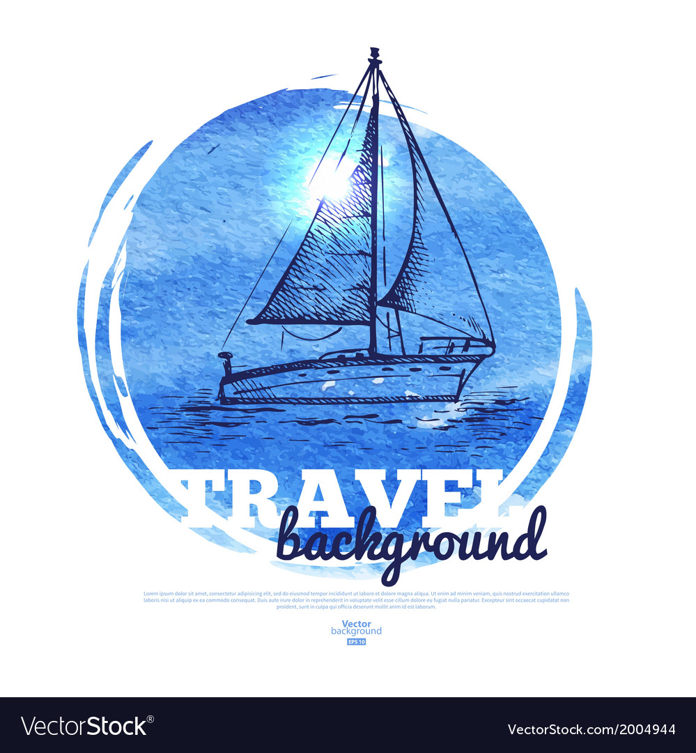Travel tropical design banner vector | Price: 1 Credit (USD $1)