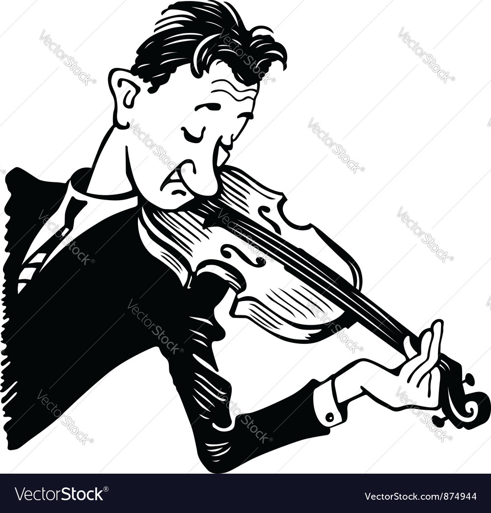 Violinist vector | Price: 1 Credit (USD $1)