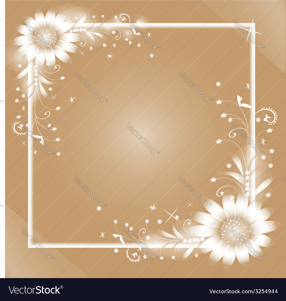 White flowers frame vector | Price: 1 Credit (USD $1)
