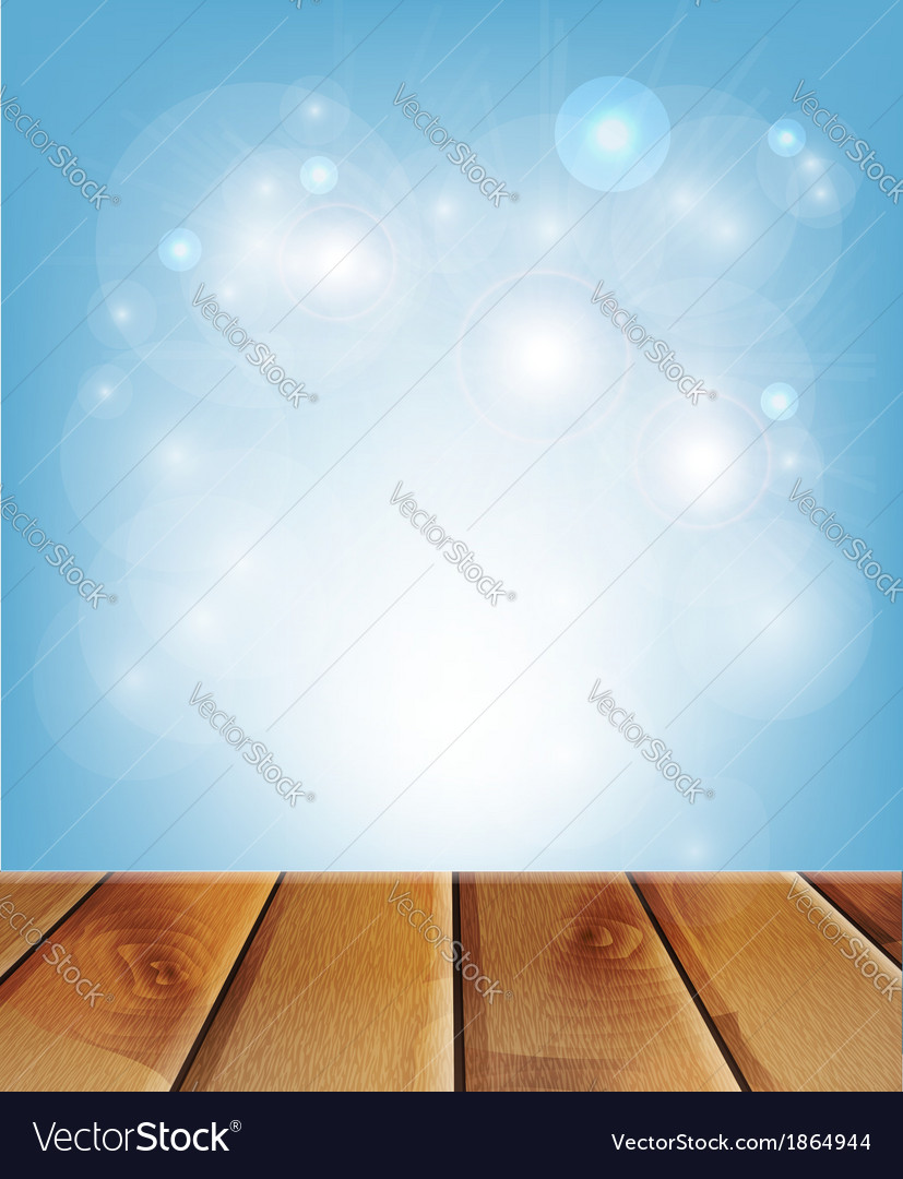 Wooden boards and blue background vector | Price: 1 Credit (USD $1)