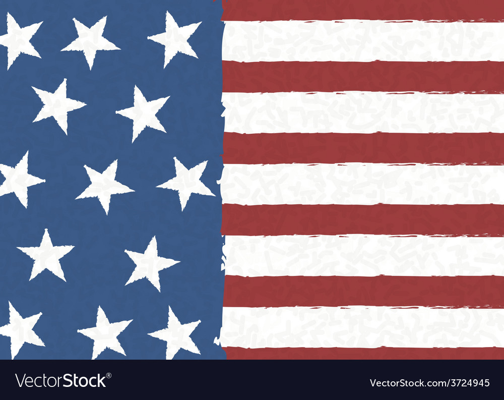 American flag on scribble abstract pattern vector | Price: 1 Credit (USD $1)