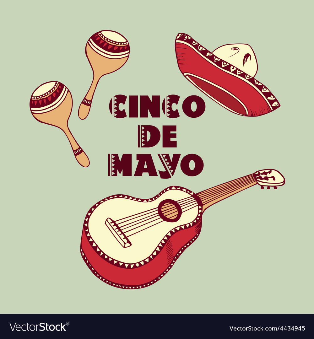 Cinco de mayo objects vector | Price: 1 Credit (USD $1)