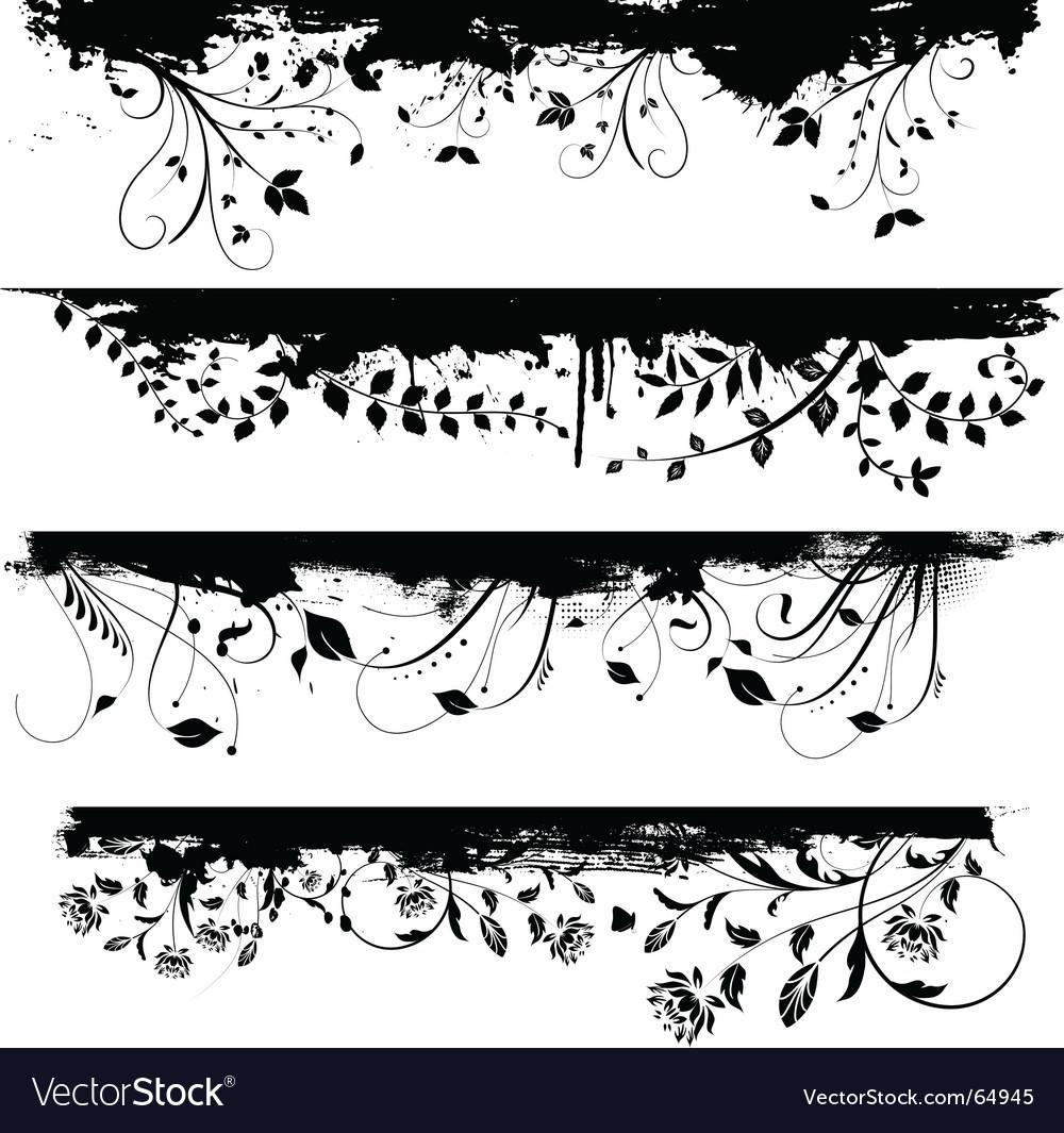 Floral grunge design vector   Price: 1 Credit (USD $1)