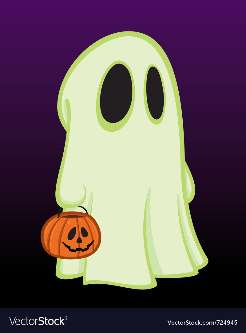 Little halloween ghost vector | Price: 1 Credit (USD $1)