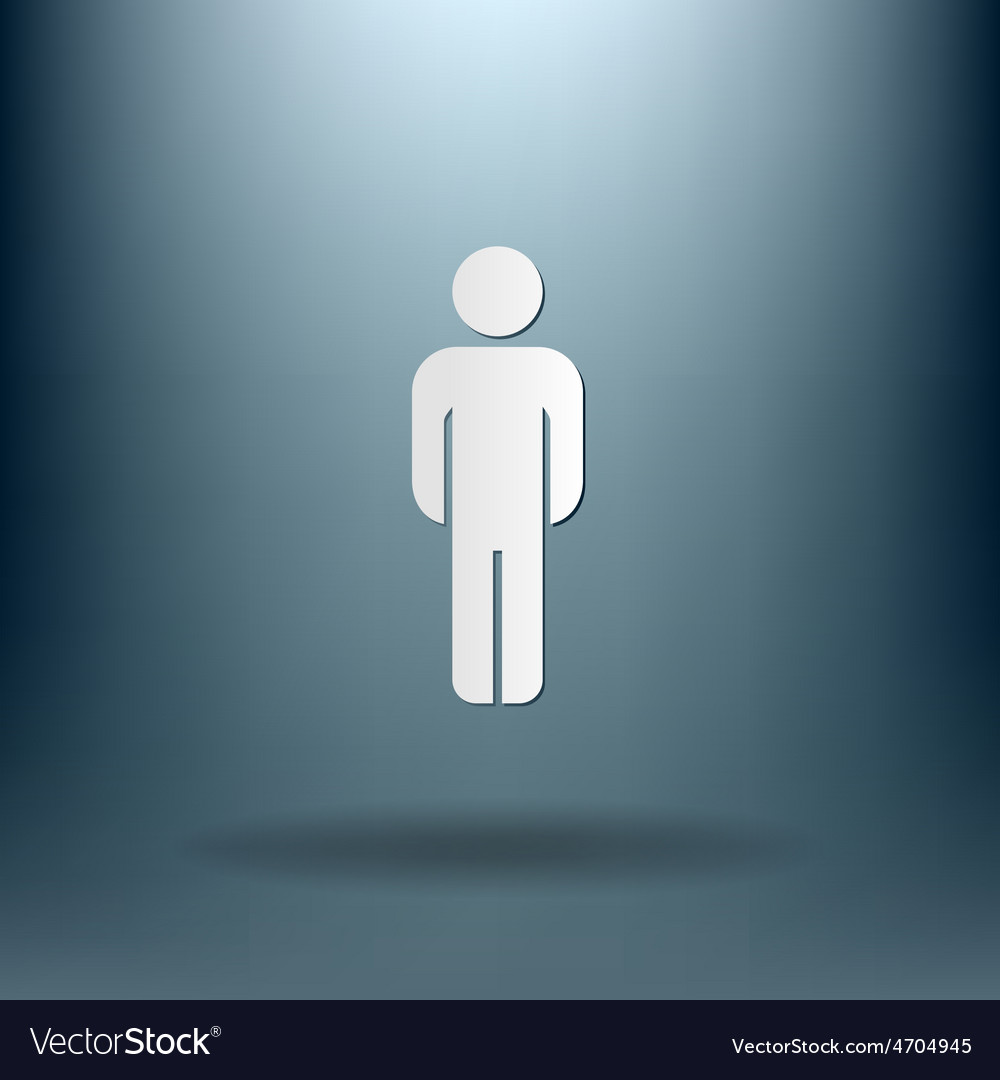 Silhouette of a man vector | Price: 1 Credit (USD $1)