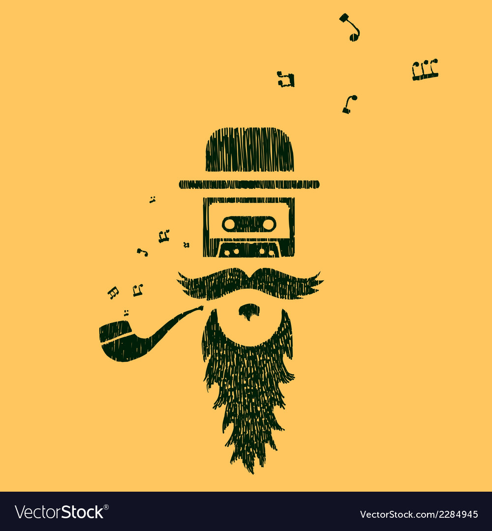 Symbol of old music vector | Price: 1 Credit (USD $1)