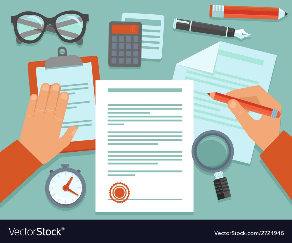 Business concept in flat style vector | Price: 1 Credit (USD $1)