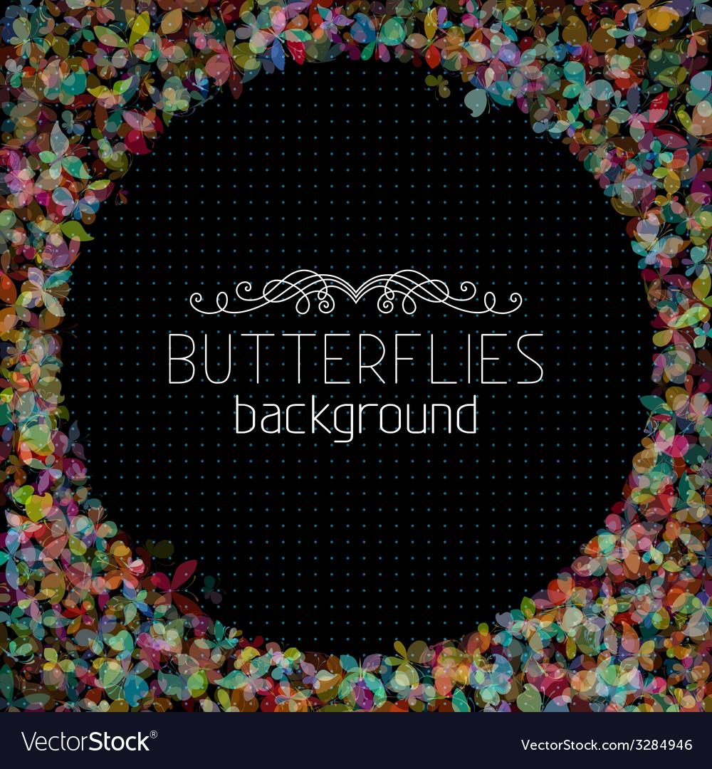Butterflies background vector   Price: 1 Credit (USD $1)