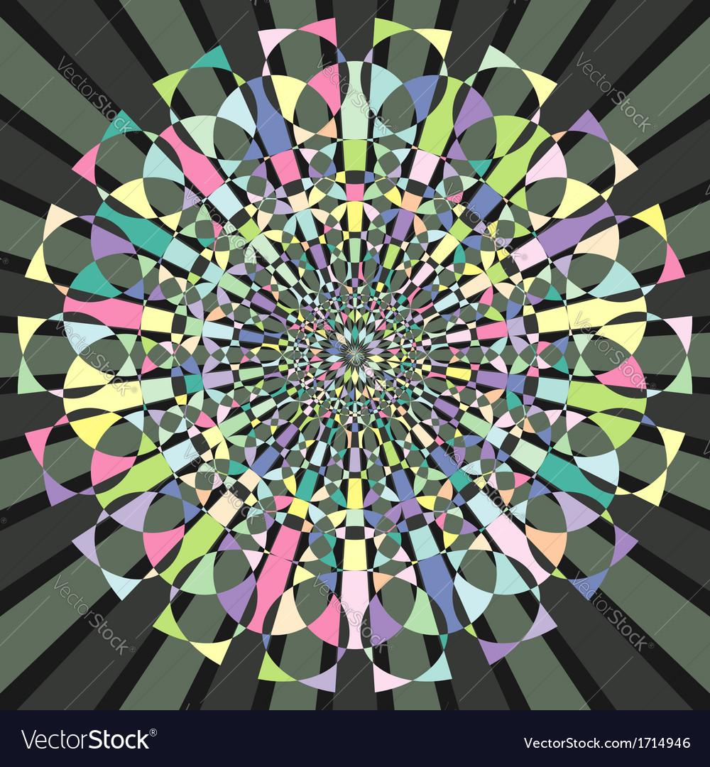 Circular decorative geometric pattern vector | Price: 1 Credit (USD $1)