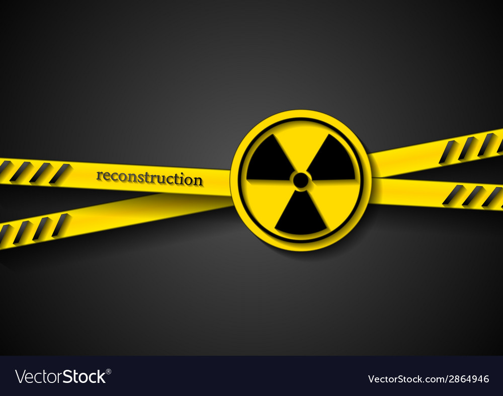 Danger tape abstract background with radiation vector | Price: 1 Credit (USD $1)