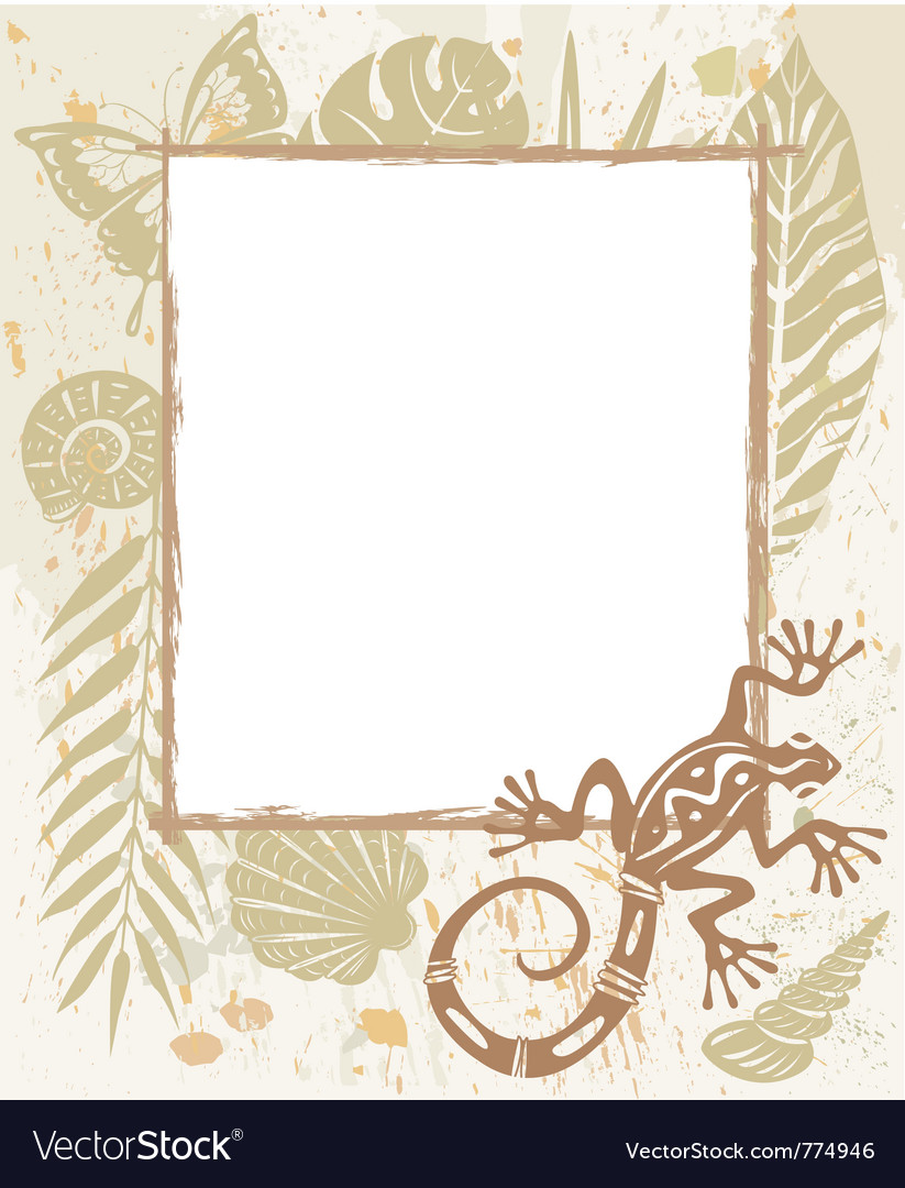 Frame made of natural objects vector | Price: 1 Credit (USD $1)