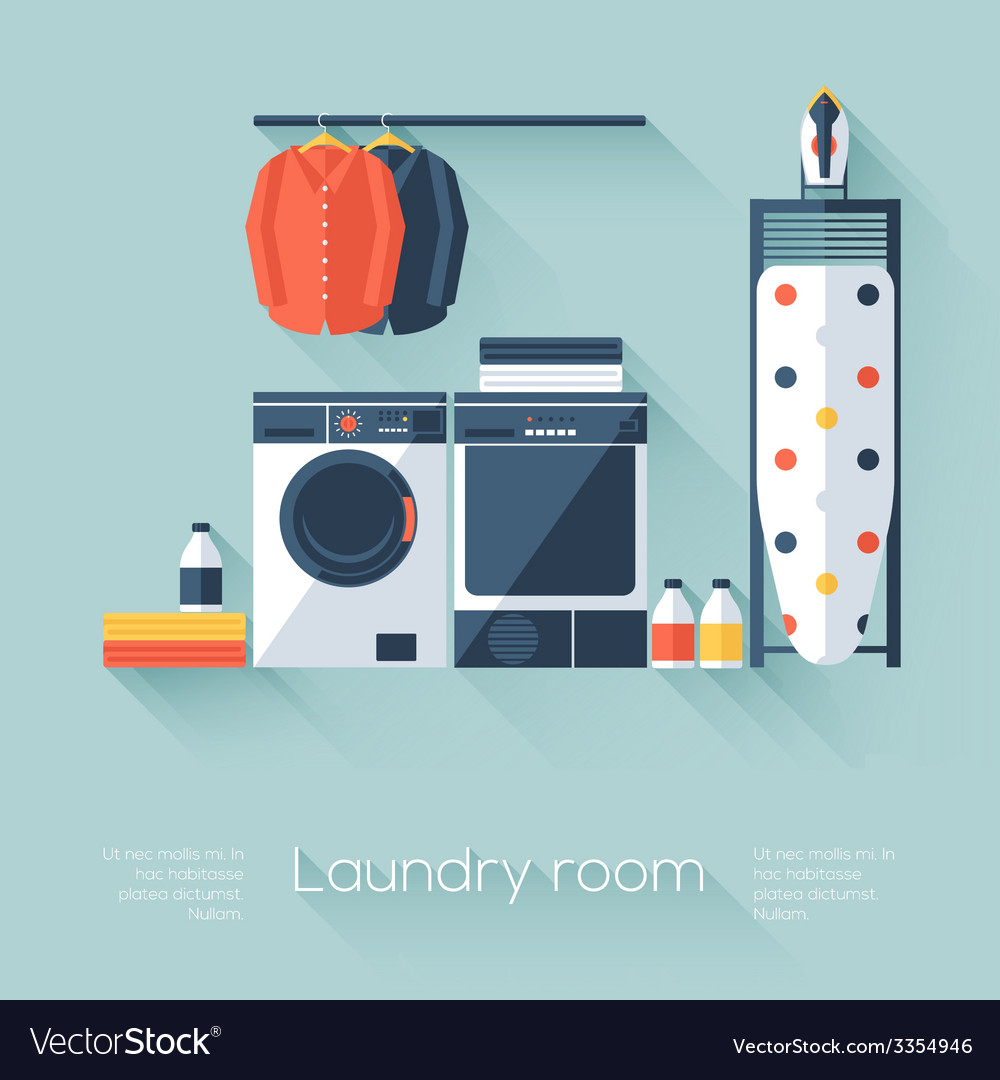 Laundry room vector | Price: 1 Credit (USD $1)