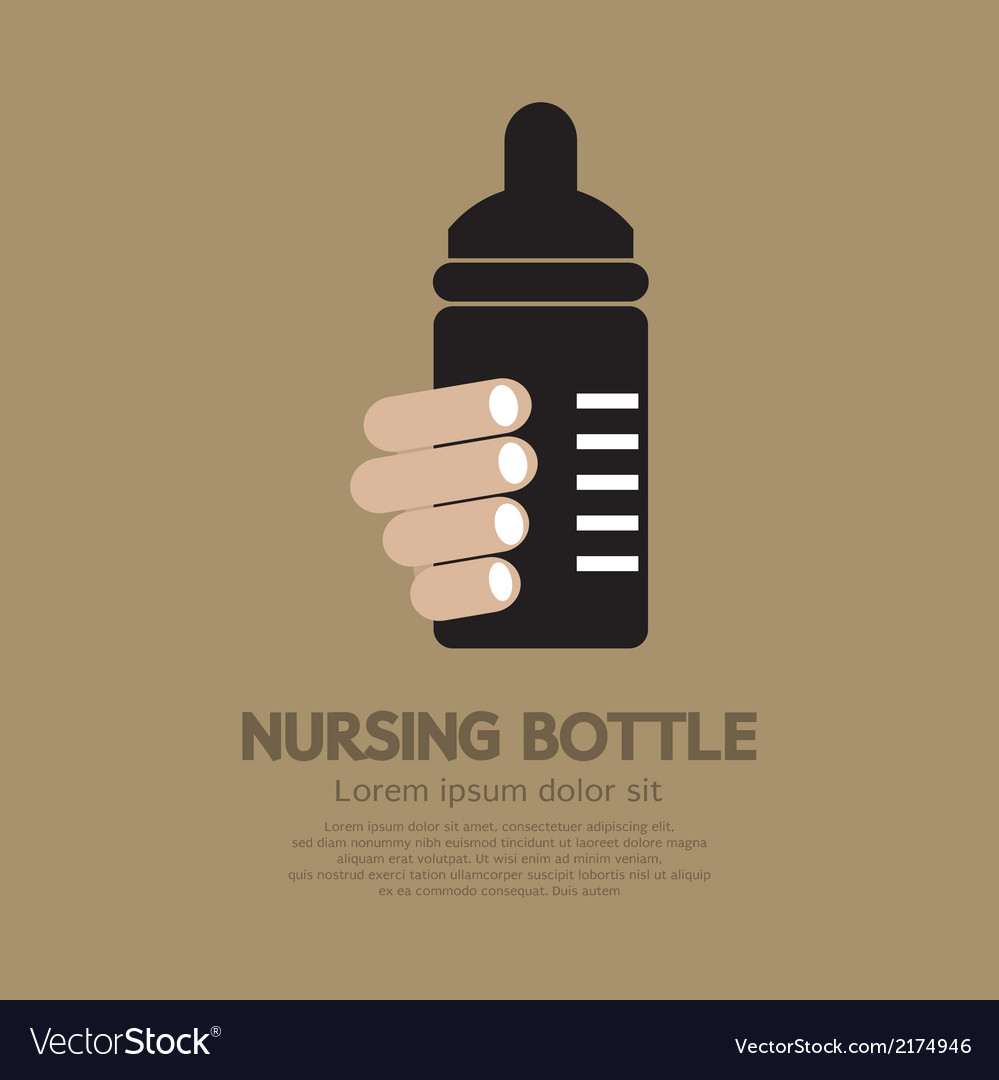 Nursing bottle vector | Price: 1 Credit (USD $1)