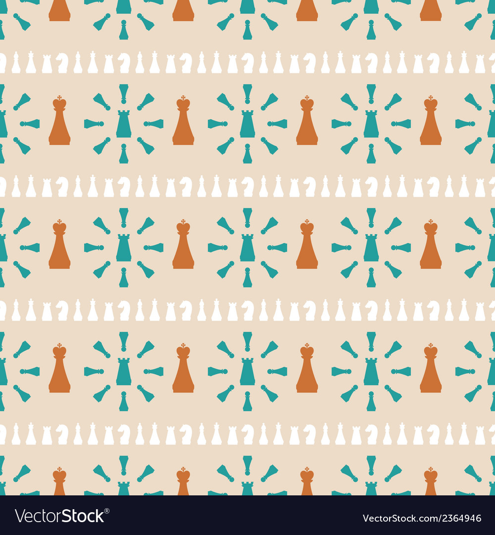 Seamless pattern of chess vector | Price: 1 Credit (USD $1)