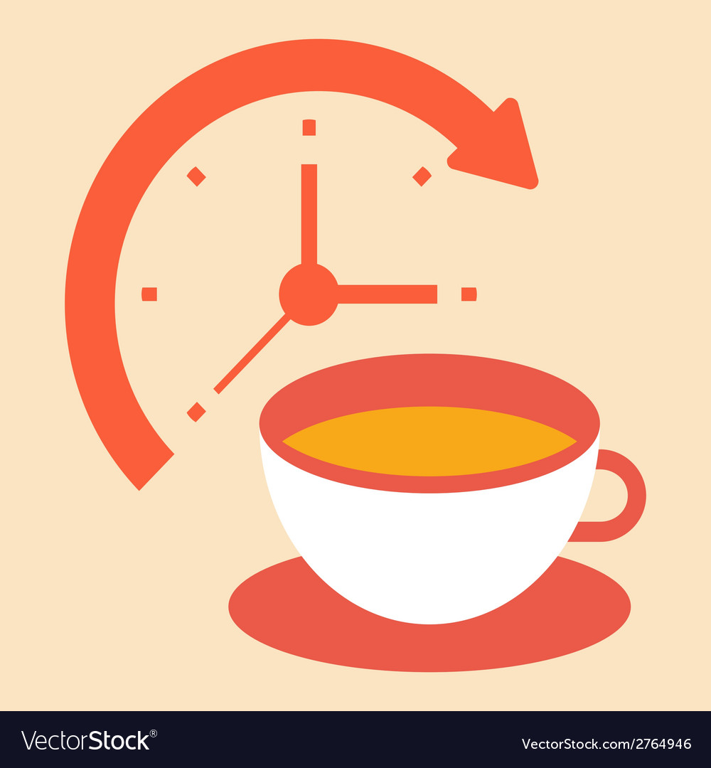 Time for a coffee break vector | Price: 1 Credit (USD $1)