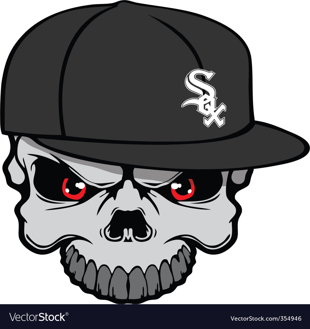 White sox skull vector | Price: 1 Credit (USD $1)