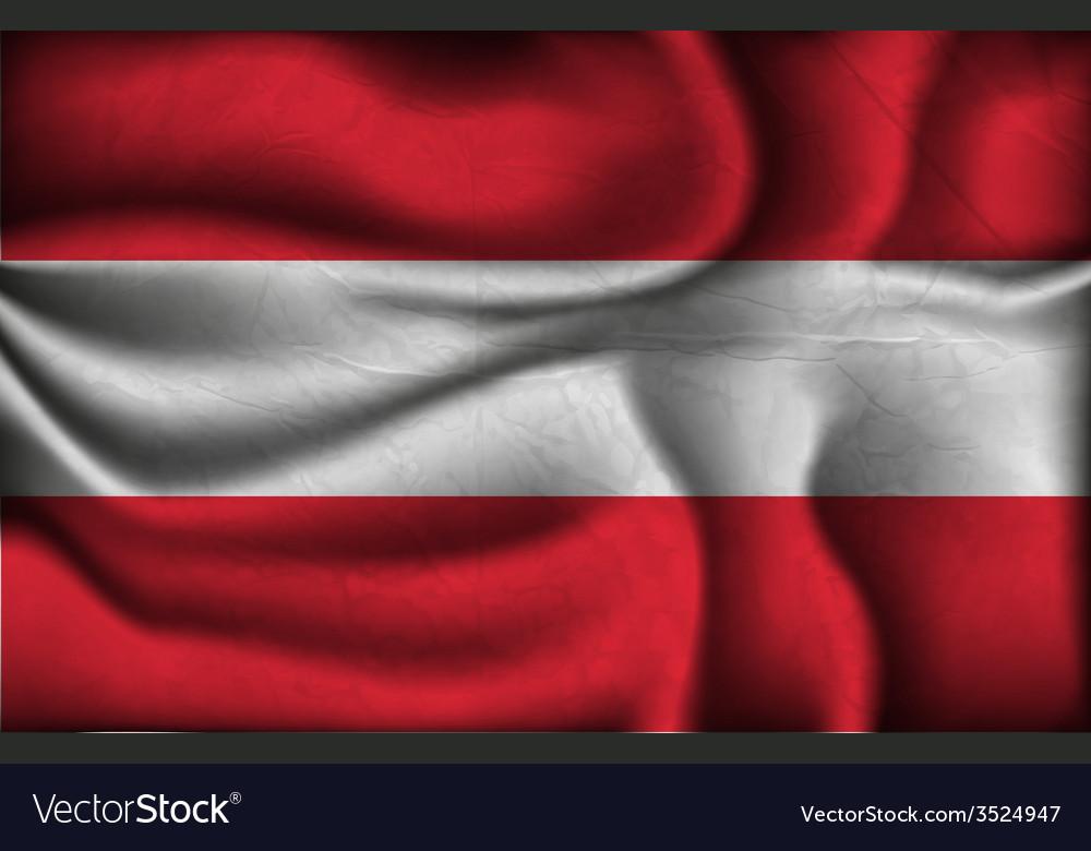 Crumpled flag of austria vector | Price: 1 Credit (USD $1)