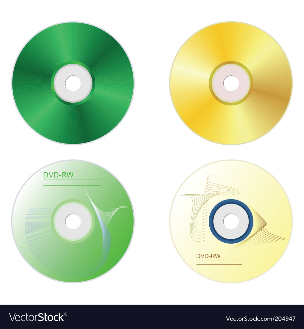 Dvd disk set vector | Price: 1 Credit (USD $1)