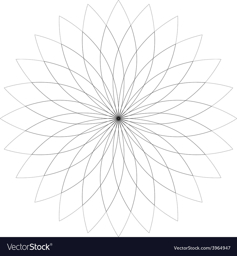 Flower lotus silhouette for design vector | Price: 1 Credit (USD $1)