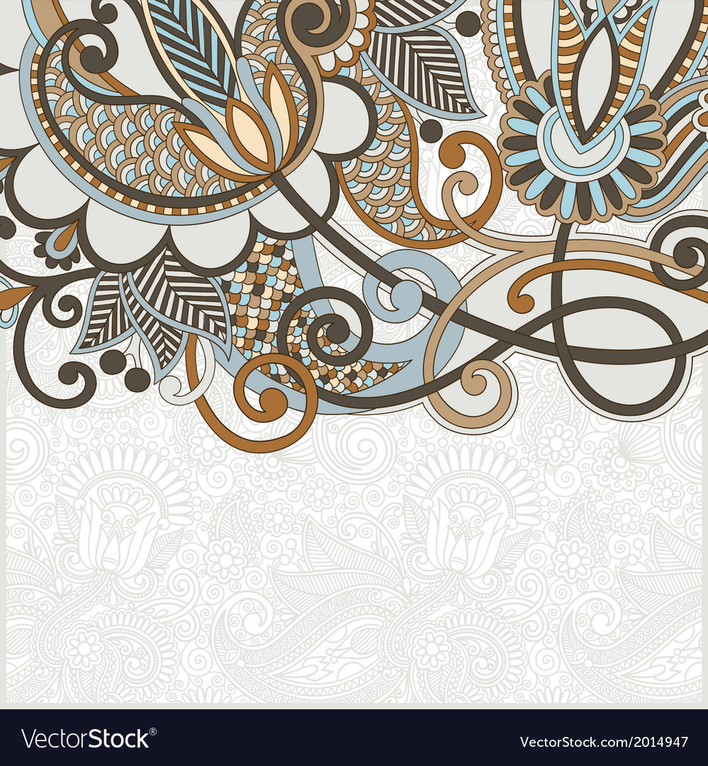 Hand draw ornate card announcement vector   Price: 1 Credit (USD $1)