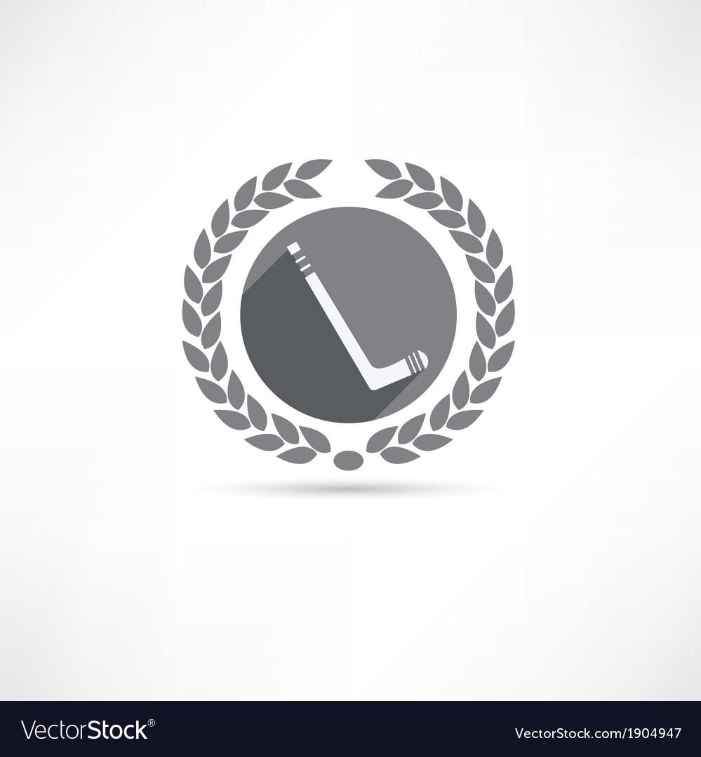 Hockey stick icon vector | Price: 1 Credit (USD $1)