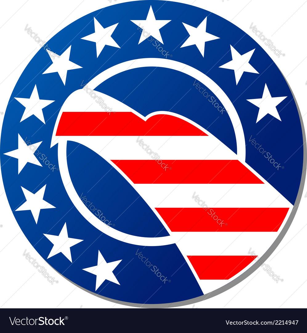 Patriotoc american emblem or badge vector | Price: 1 Credit (USD $1)