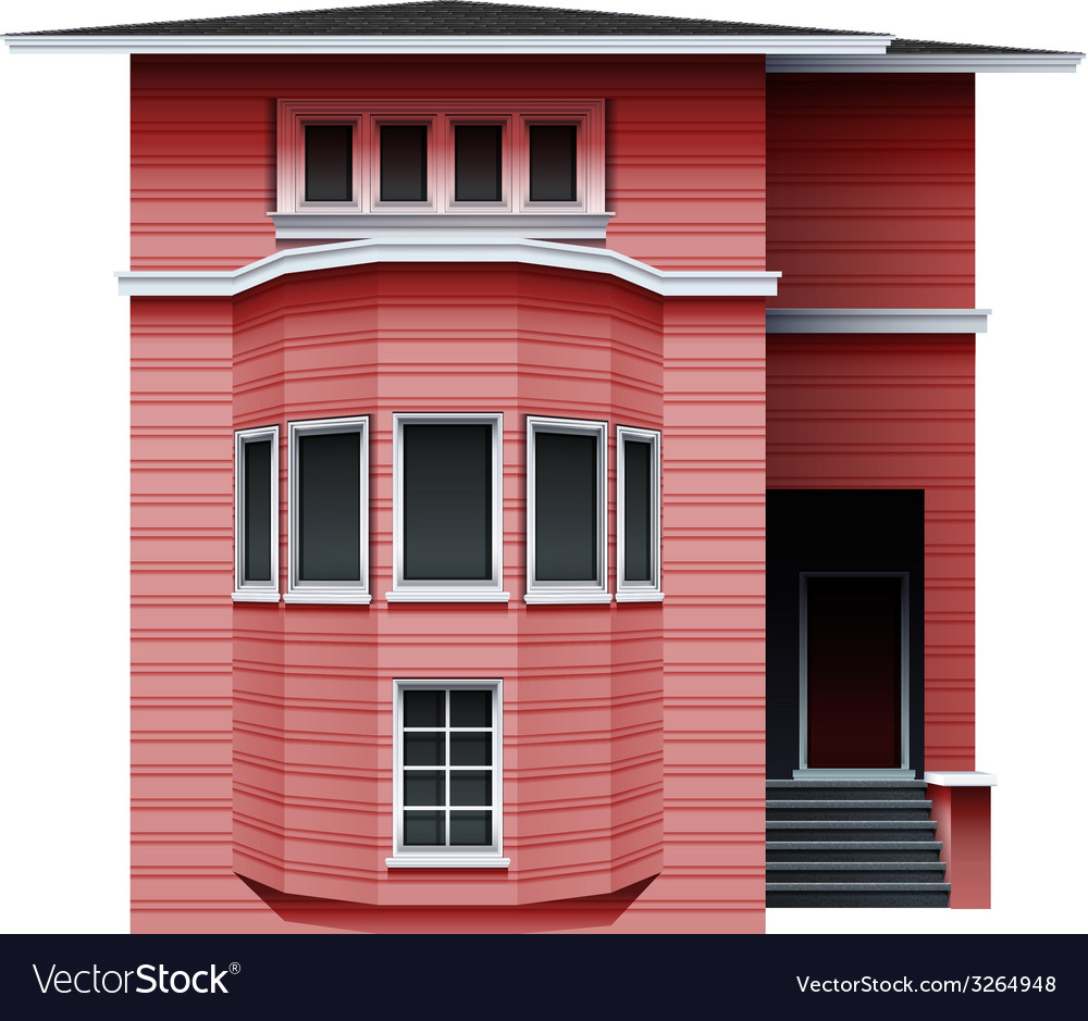 A pink building vector | Price: 1 Credit (USD $1)