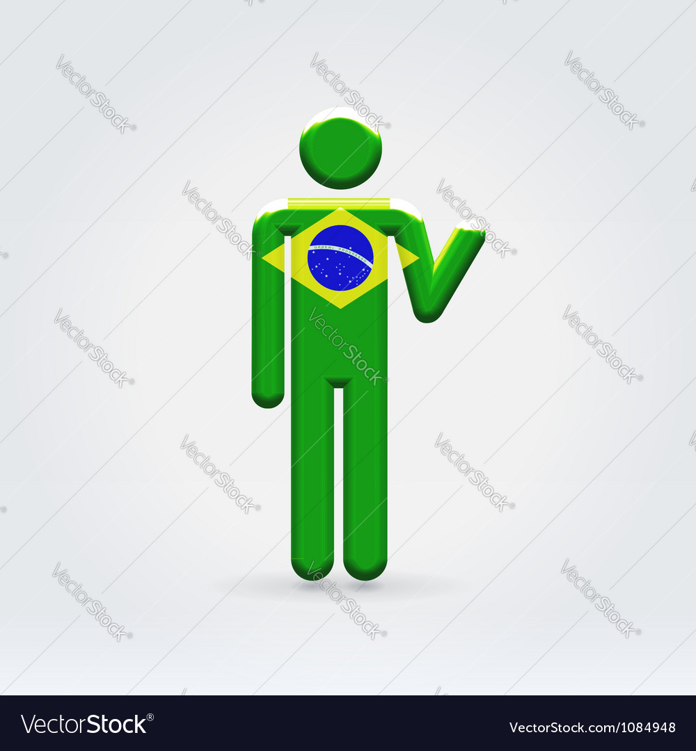 Brasilian symbolic citizen icon vector | Price: 1 Credit (USD $1)