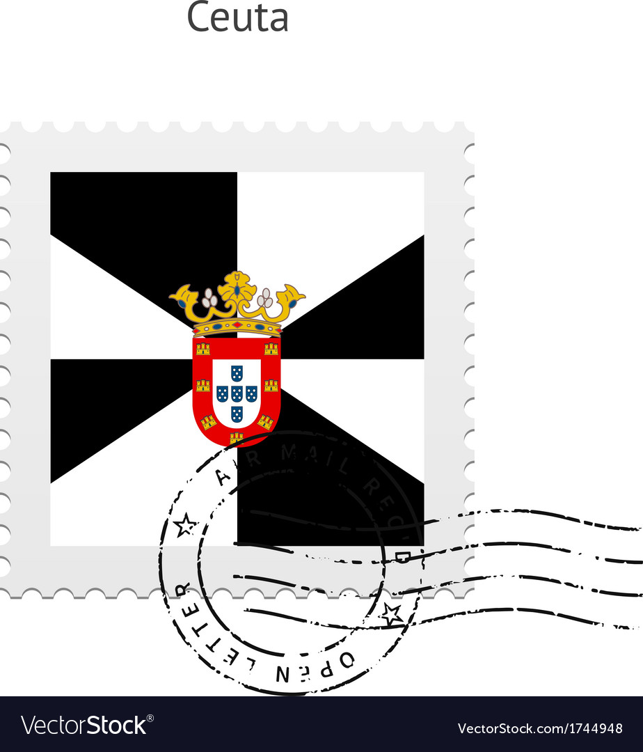 Ceuta flag postage stamp vector | Price: 1 Credit (USD $1)