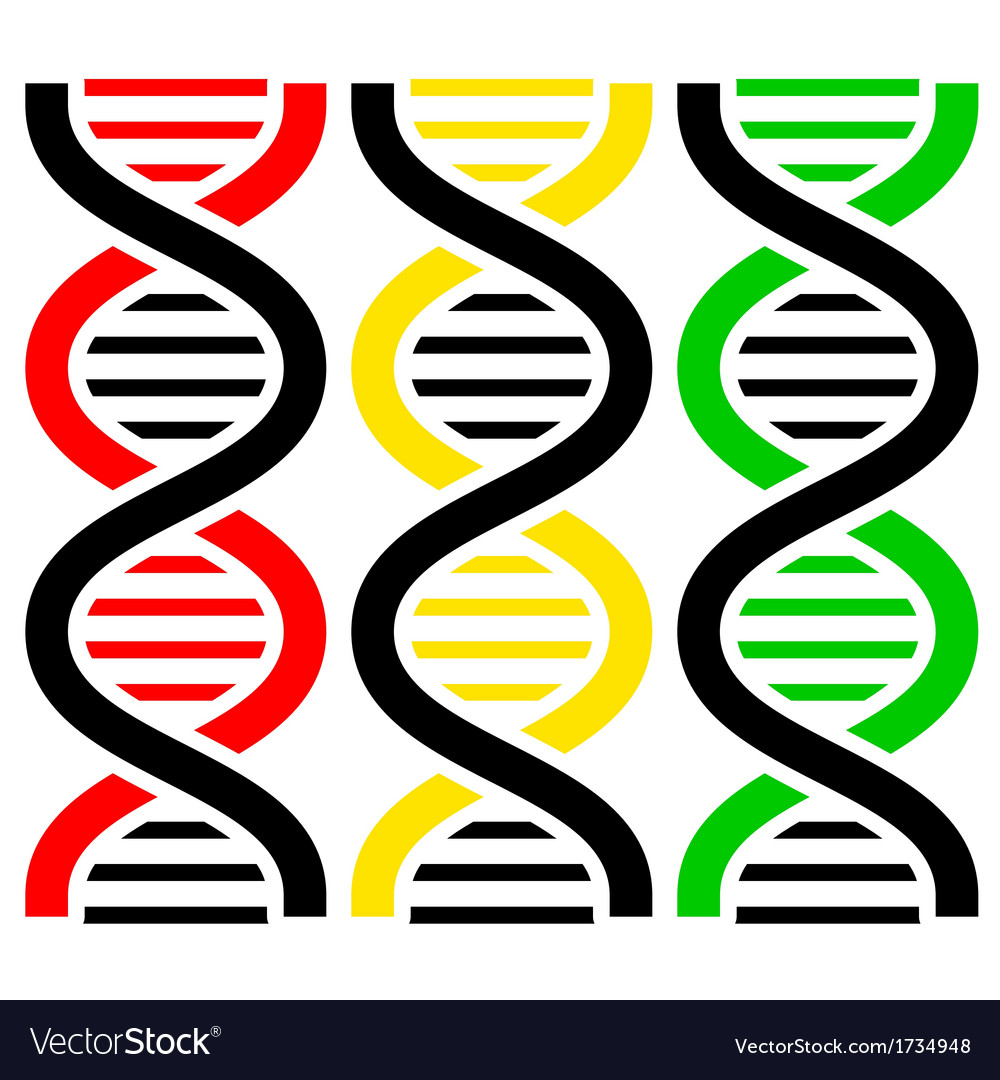 Dna symbols vector | Price: 1 Credit (USD $1)