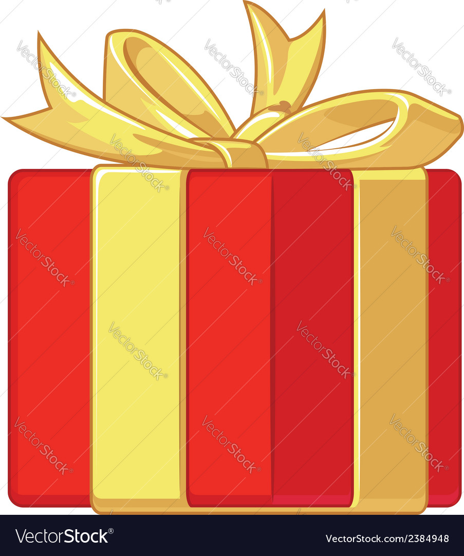 Gift box with ribbon vector | Price: 1 Credit (USD $1)