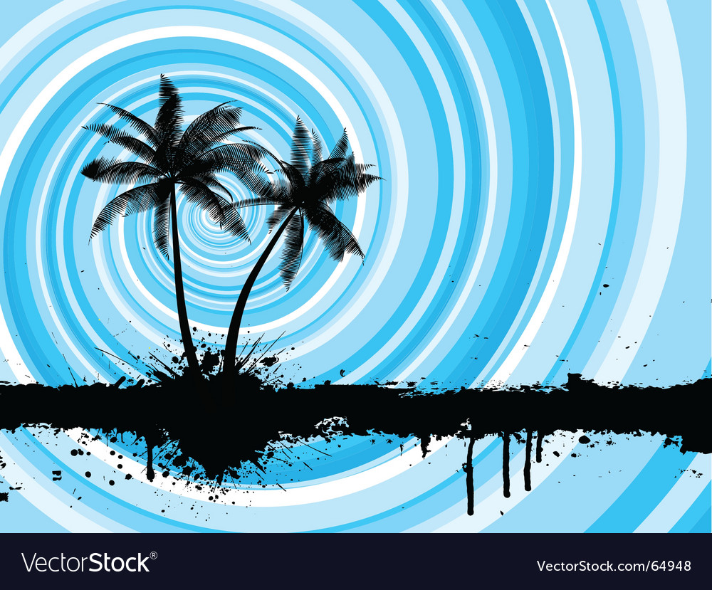 Grunge palm trees vector   Price: 1 Credit (USD $1)