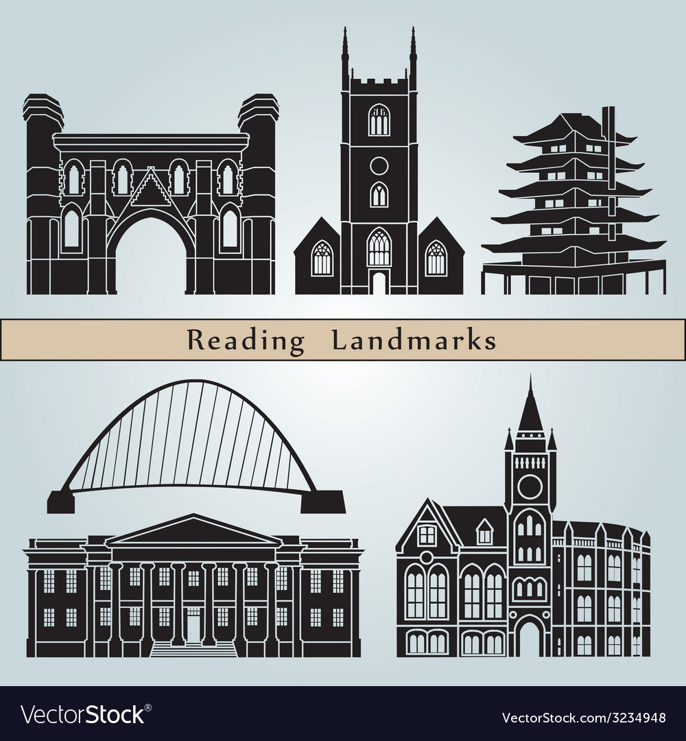 Reading landmarks and monuments vector   Price: 1 Credit (USD $1)