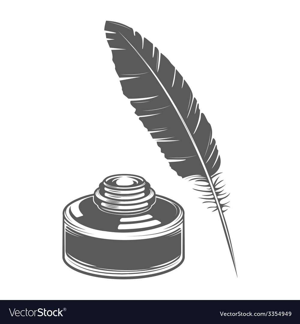 Feather pen and ink vector | Price: 1 Credit (USD $1)