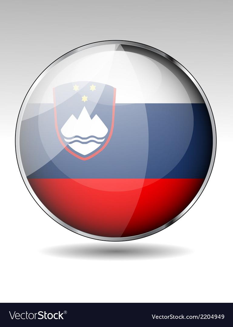 Flag button design elements vector | Price: 1 Credit (USD $1)
