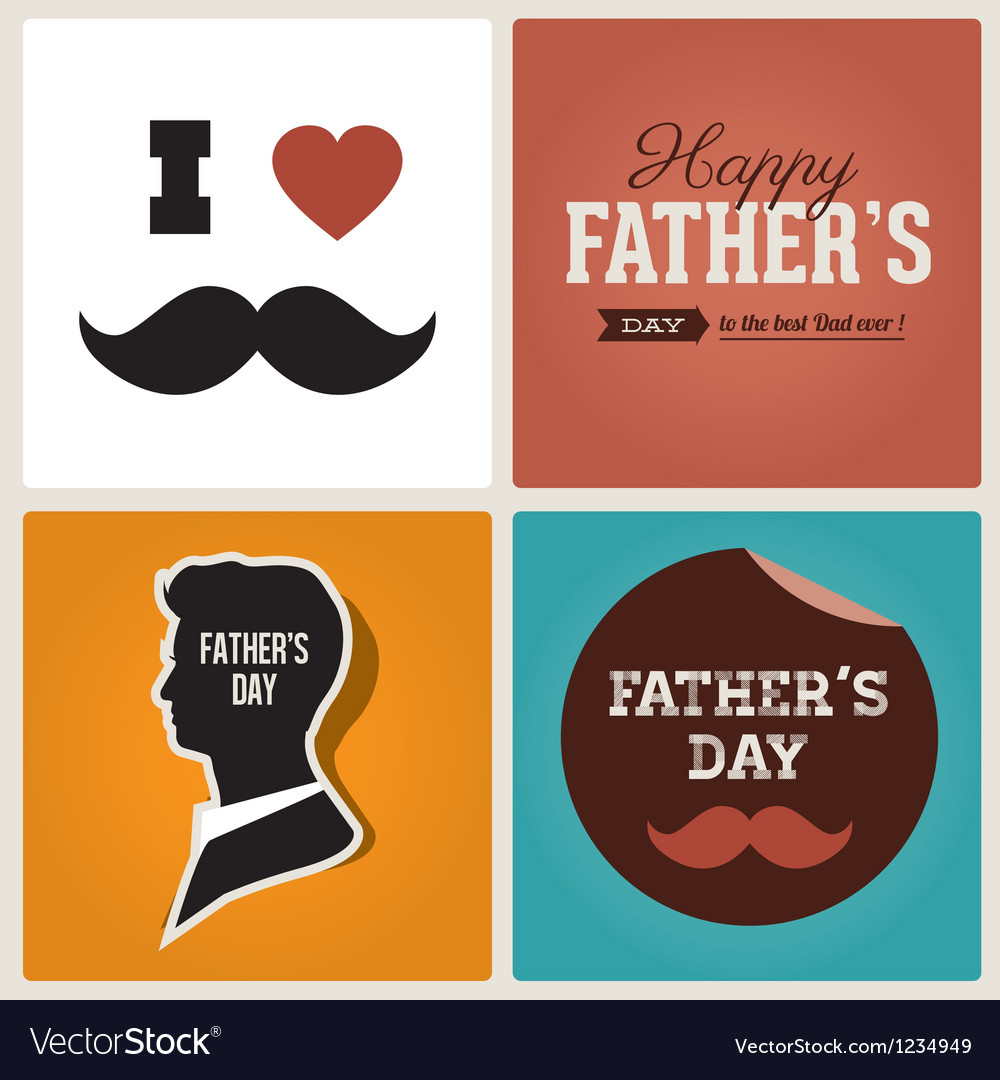 Happy fathers day cards vector | Price: 3 Credit (USD $3)